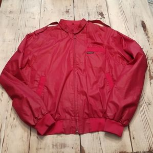 Vintage Red Members Only Iconic Racer Jacket